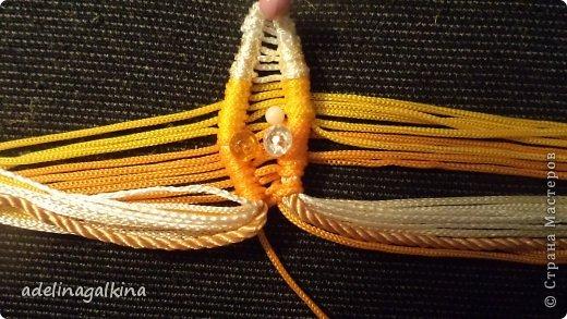 Мастер-класс Украшение Макраме  Техника плетения кулона Звёздочка  от Петерс Розы Нитки фото 7