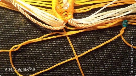 Мастер-класс Украшение Макраме  Техника плетения кулона Звёздочка  от Петерс Розы Нитки фото 9