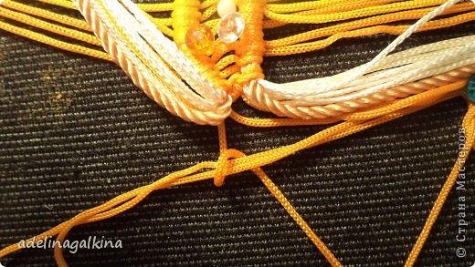 Мастер-класс Украшение Макраме  Техника плетения кулона Звёздочка  от Петерс Розы Нитки фото 10