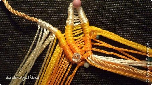 Мастер-класс Украшение Макраме  Техника плетения кулона Звёздочка  от Петерс Розы Нитки фото 14