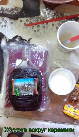 Декор предметов Мастер-класс Подарок хорошему человеку Бутылки стеклянные Кожа фото 9