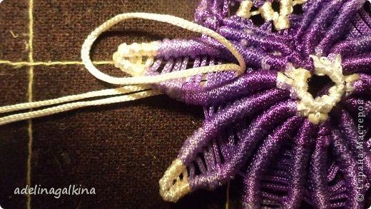 Мастер-класс Украшение Макраме  Техника плетения кулона Звёздочка  от Петерс Розы Нитки фото 24