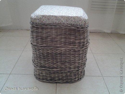 Мастер-класс Плетение МК Плетем пуфик из бумажных трубочек Бумага фото 12