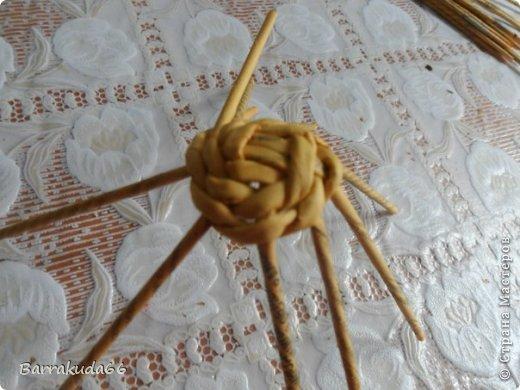 Мастер-класс Поделка изделие Новый год Пасха Плетение Корзинка Овечка Бумага газетная Трубочки бумажные фото 7