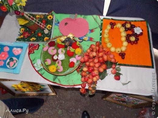 """Всем приветик!!!! В нашем районном центре с. Языково проходил праздник под названием """"Райские яблочки"""". И, поскольку наш Первомайский сельский совет тоже участвовал в празднике, мы с моей бабулей тоже приняли участие. Вот такой аркой нас встретил праздник осени. фото 11"""