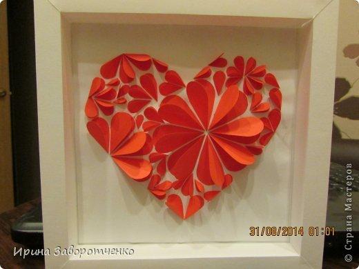 Картина панно рисунок День матери Аппликация Панно Сердце + МК Бумага фото 1