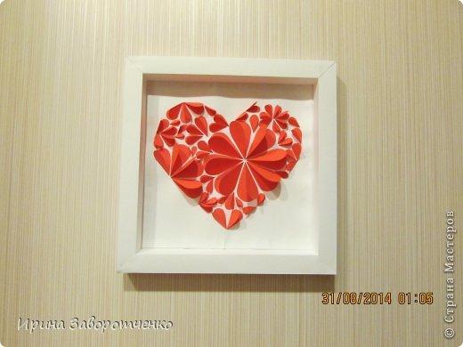 Картина панно рисунок День матери Аппликация Панно Сердце + МК Бумага фото 12