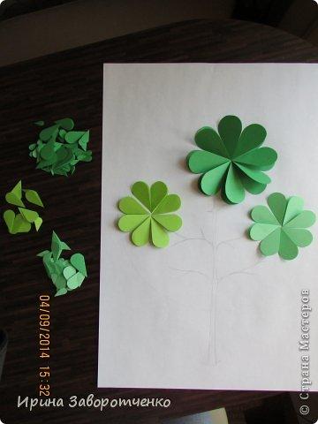 Картина панно рисунок Бумагопластика Панно Лето из сердечек + МК Бумага фото 6
