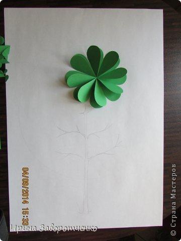 Картина панно рисунок Бумагопластика Панно Лето из сердечек + МК Бумага фото 2