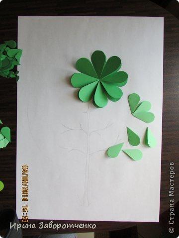 Картина панно рисунок Бумагопластика Панно Лето из сердечек + МК Бумага фото 3