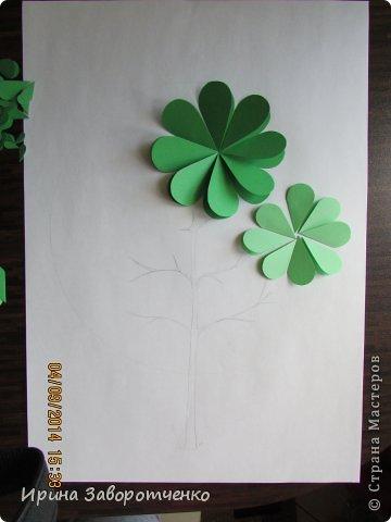 Картина панно рисунок Бумагопластика Панно Лето из сердечек + МК Бумага фото 4