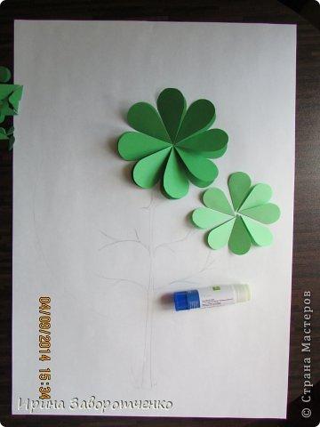 Картина панно рисунок Бумагопластика Панно Лето из сердечек + МК Бумага фото 5