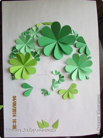 Картина панно рисунок Бумагопластика Панно Лето из сердечек + МК Бумага фото 10