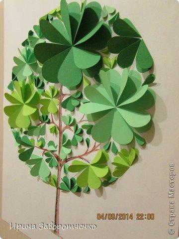 Картина панно рисунок Бумагопластика Панно Лето из сердечек + МК Бумага фото 12