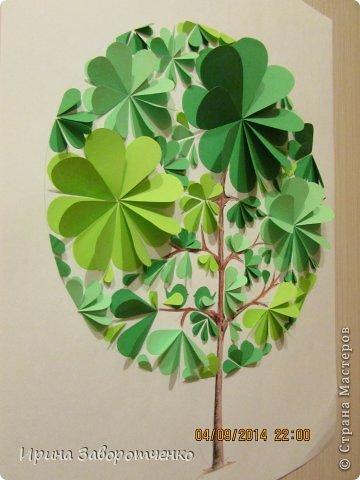 Картина панно рисунок Бумагопластика Панно Лето из сердечек + МК Бумага фото 13