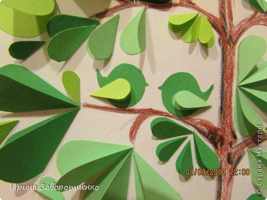 Картина панно рисунок Бумагопластика Панно Лето из сердечек + МК Бумага фото 14