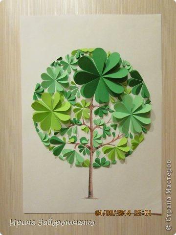 Картина панно рисунок Бумагопластика Панно Лето из сердечек + МК Бумага фото 16