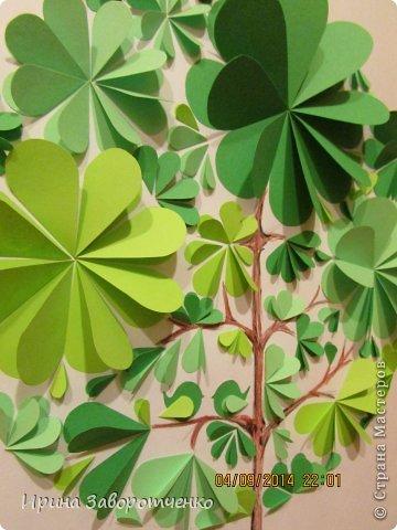 Картина панно рисунок Бумагопластика Панно Лето из сердечек + МК Бумага фото 15