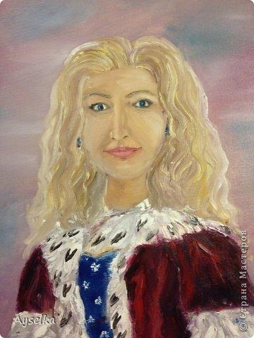 Решила попробовать что-то новое, никогда не рисовала натюрморты, портреты, - все время были пейзажи (потому что рисовать не умею, а пейзажи - это самое легкое для новичка как я =) Надеюсь со временем научится, а пока вот что у меня  вышло:   масло, холст 29\32. по картине Натальи (к сожалению фамилии не знаю, есть ник :nataliechrustal - eto na jarmarke masterov). фото 8