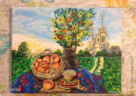 Решила попробовать что-то новое, никогда не рисовала натюрморты, портреты, - все время были пейзажи (потому что рисовать не умею, а пейзажи - это самое легкое для новичка как я =) Надеюсь со временем научится, а пока вот что у меня  вышло:   масло, холст 29\32. по картине Натальи (к сожалению фамилии не знаю, есть ник :nataliechrustal - eto na jarmarke masterov). фото 9