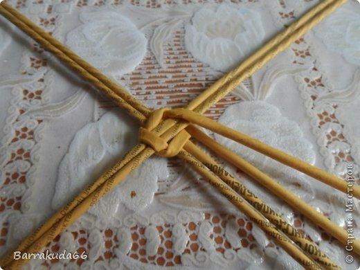 Мастер-класс Поделка изделие Новый год Пасха Плетение Корзинка Овечка Бумага газетная Трубочки бумажные фото 6