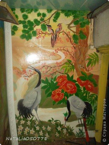 моя работа роспись  хоз . комнаты. фото 1