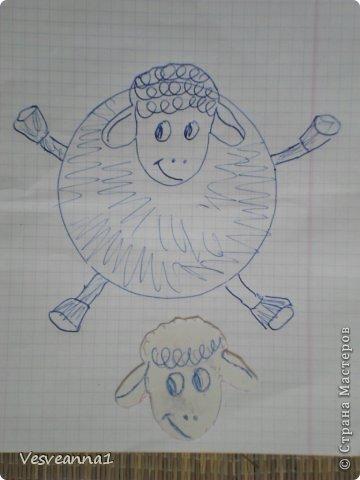 Здравствуйте! Новый год не за горами, по Стране Мастеров уже скачут разные овечки. Хочется поздравить близких хотя бы небольшой поделкой, сделанной своими руками. Вот так и появилась у меня такая детская поделка. фото 11