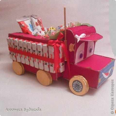 Вот такой грузовик у меня получился. Спасибо OlesЯ за МК!!! Надеюсь маленькому сладкоежке понравиться!!! фото 1