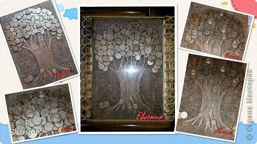 Денежное дерево из монеток фото 2