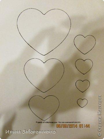 Картина панно рисунок Аппликация Панно Осень  из сердечек + Шаблоны Бумага фото 9