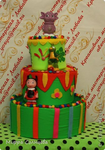 Бутафорский детский тортик. фото 1