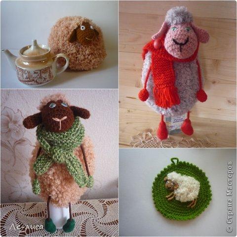2015 -год Овцы. Пора готовить отару на подарки. Хочу поделиться своими идеями. Обыгрывать овец можно по разному, но просто игрушки мне не интересны, поскольку дети  уже выросли. Лично я люблю практичные подарки, которые пригодятся в быту.  Эти овцы- чехлы на бутылки, мы же собираемся отмечать Новый год? фото 28