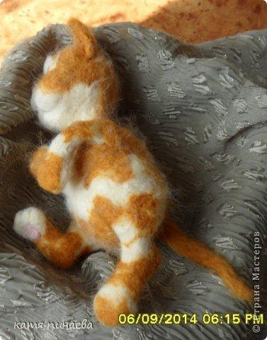 всем привет, во такой рыжик у меня получился, а вот ссылочка на МК http://yulia-yu-yu.livejournal.com/15428.html, мне очень понравился котенок в МК, очень захотелось попробовать его сделать, конечно, у меня не получилось так красиво фото 3