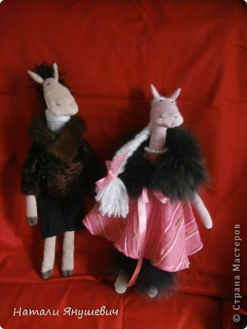 """Подарок к Новому 2014 году """"Конь в пальто и кабыла в манто' фото 1"""
