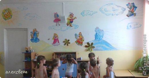 Здравствуйте , я сегодня поделюсь с Вами как в детском саду можно быстро и красиво украсить стену для детей за один сонный час. фото 14