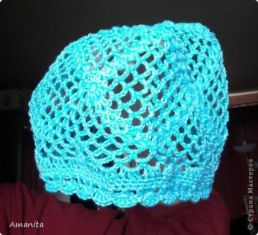 Связала для мамы такую шапочку-беретик, чтобы волосы не мешали, что-то вроде чепчика. фото 4