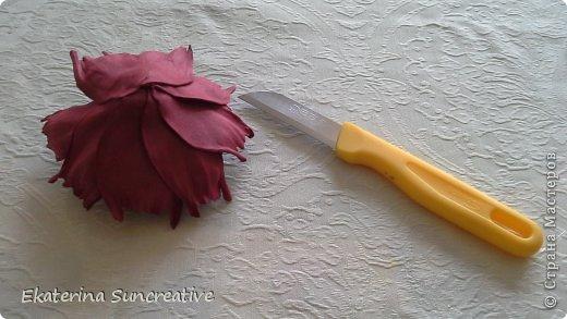 Предлагаю вашему вниманию мастер класс по созданию пиона. В данном случае сделаем с вами брошь.. Всегда хочется быть особенной и женственной..А такой элемент, как цветок, сделает образ оригинальным и нежным! фото 8
