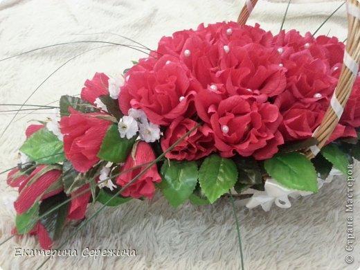 """И вот мой первый букет!!! Сделала для свекрови на юбилей, она у нас садовод-любитель, каких цветов у нее только нет, поэтому решила сделать цветочный букет с ее любимым """"Осенним вальсом"""". Не забудьте, это мой первый букет, поэтому не судите строго. большое спасибо: - Endy https://stranamasterov.ru/node/406889?c=popular_inf_1707 - Svetik629 https://stranamasterov.ru/node/628433?c=popular_inf_1707    фото 2"""