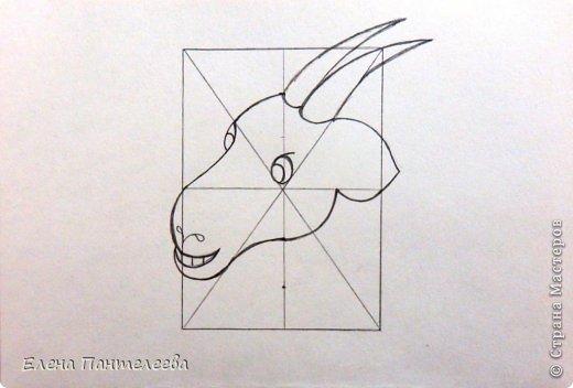 Так как 2015 год козы (овцы), предлагаю нарисовать оба варианта по одной схеме. фото 22