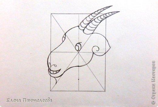 Так как 2015 год козы (овцы), предлагаю нарисовать оба варианта по одной схеме. фото 23