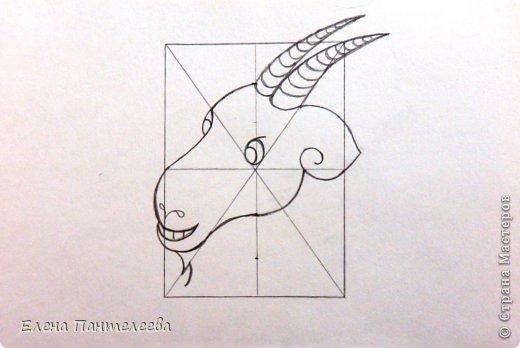 Так как 2015 год козы (овцы), предлагаю нарисовать оба варианта по одной схеме. фото 24