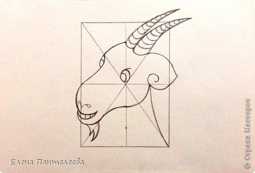 Так как 2015 год козы (овцы), предлагаю нарисовать оба варианта по одной схеме. фото 25