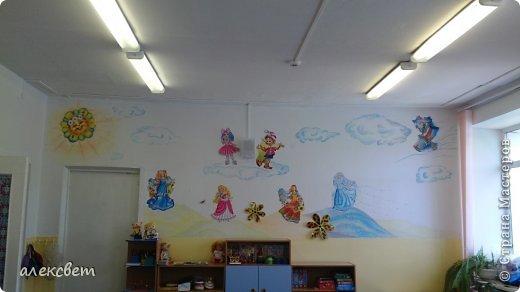 Здравствуйте , я сегодня поделюсь с Вами как в детском саду можно быстро и красиво украсить стену для детей за один сонный час. фото 2