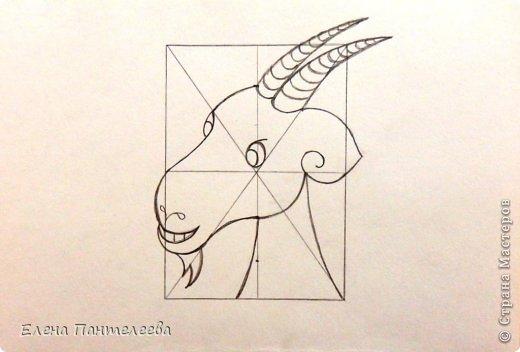 Так как 2015 год козы (овцы), предлагаю нарисовать оба варианта по одной схеме. фото 26