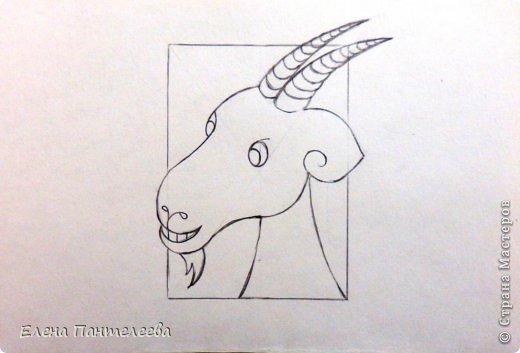 Так как 2015 год козы (овцы), предлагаю нарисовать оба варианта по одной схеме. фото 27