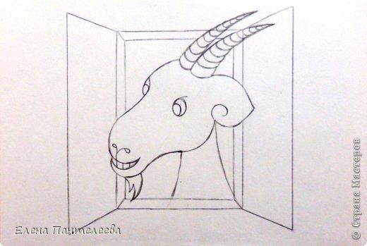 Так как 2015 год козы (овцы), предлагаю нарисовать оба варианта по одной схеме. фото 28