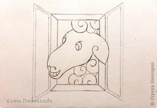 Так как 2015 год козы (овцы), предлагаю нарисовать оба варианта по одной схеме. фото 39