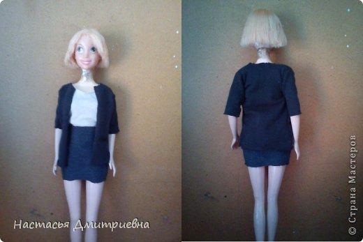 Черно белое платье с с ремешком. фото 3