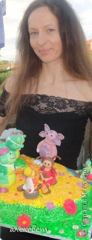 Здраствуйте. Вот такой торт Нина  сама приготовила   для своей доченьки Насте на 2 годика. фото 1