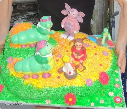 Здраствуйте. Вот такой торт Нина  сама приготовила   для своей доченьки Насте на 2 годика. фото 2